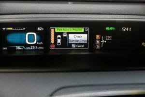 Tech options on the 2017 Toyota Prius Four Touring