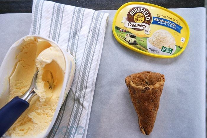 Chocolate Chip Cookie Cone with Signature Vanilla Ice Cream