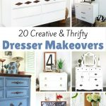 20 Creative and Thrifty Dresser Makeovers