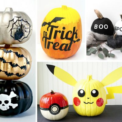 20 Decorative Halloween Painted Pumpkins