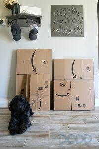 How To Make an Amazon Echo Costume Using Amazon Smile Boxes #Boxtumes