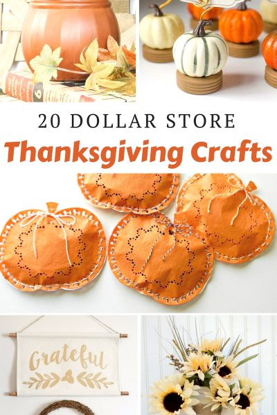 Dollar Store Thanksgiving Crafts
