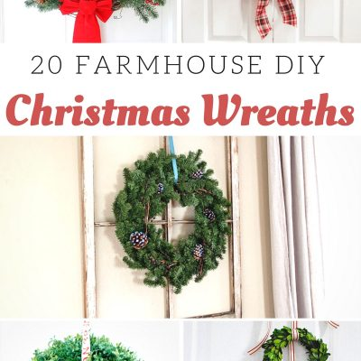 Farmhouse Christmas Wreaths Ideas