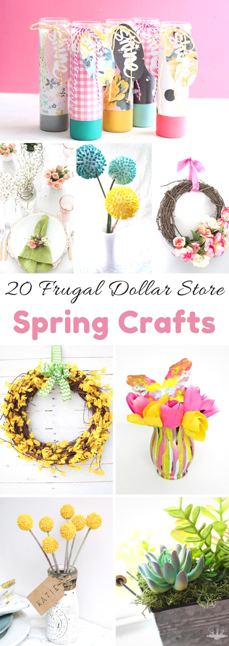 Super Easy Dollar Store Spring Crafts