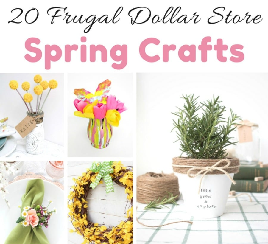 dollar store spring crafts