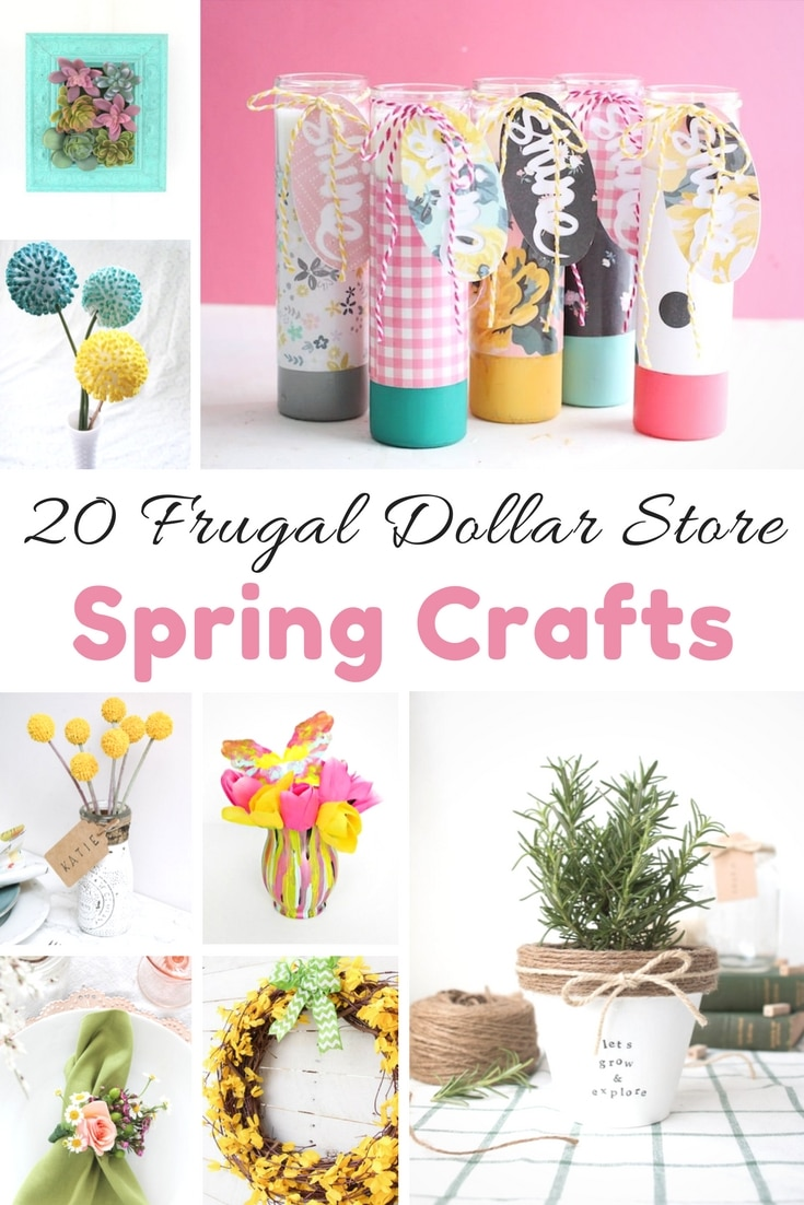 Dollar Store Spring Crafts Days Of A Domestic Dad
