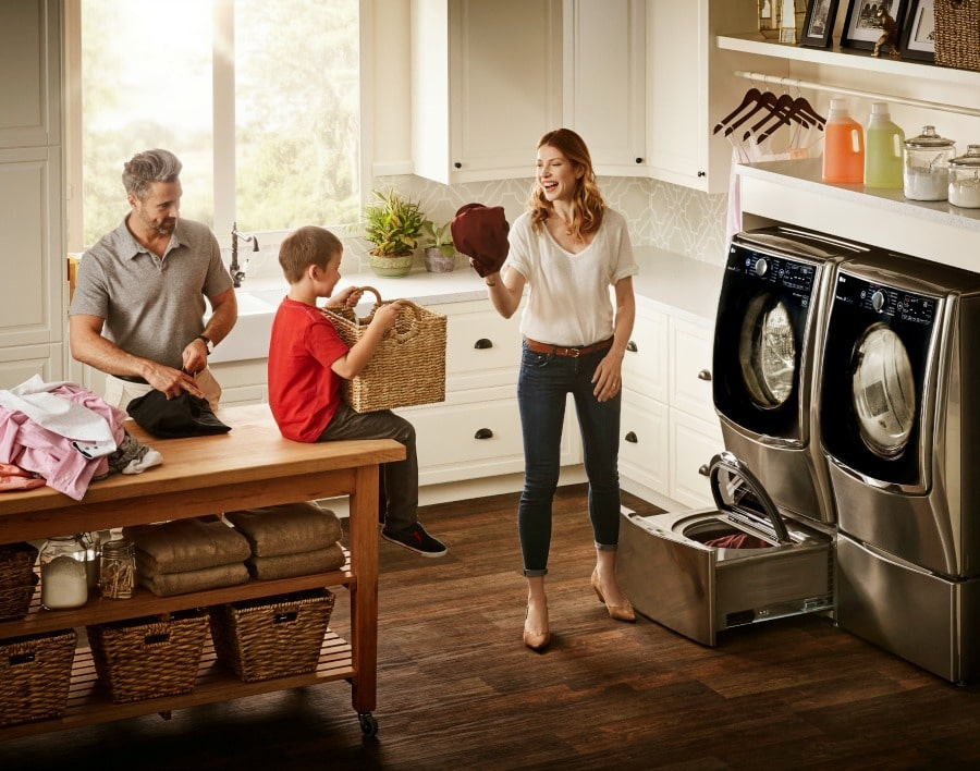 Saving time and money with an lg laundry package at best buy for Large family laundry
