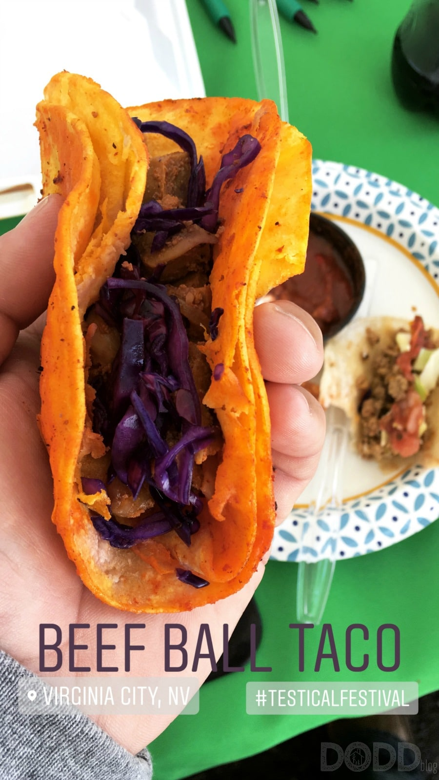 Rocky Mountain Oysters Taco