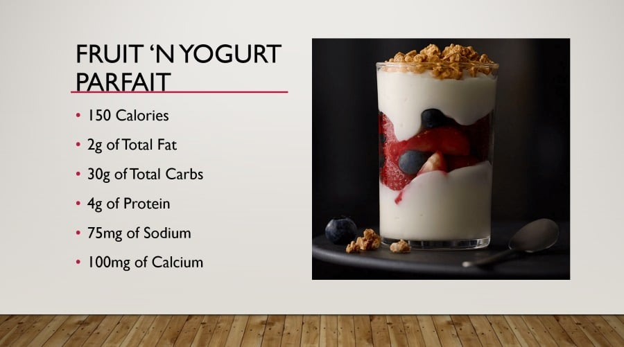 McDonald's Lunch Bunch Yogurt Parfait