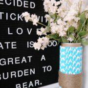 Super Easy DIY Vase Craft - Pringles Can Vase