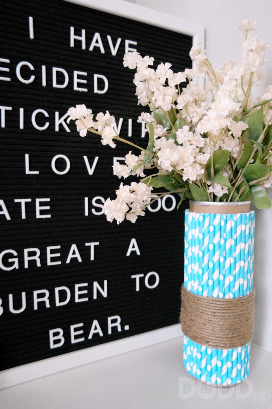 Super Easy DIY Vase Craft
