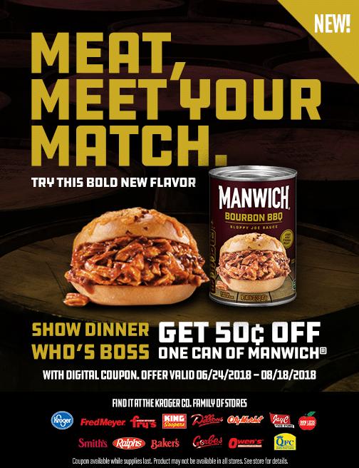 Manwich BBQ Burbon