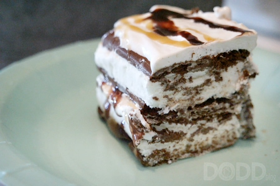 Ice Cream Sandwich Cake slice