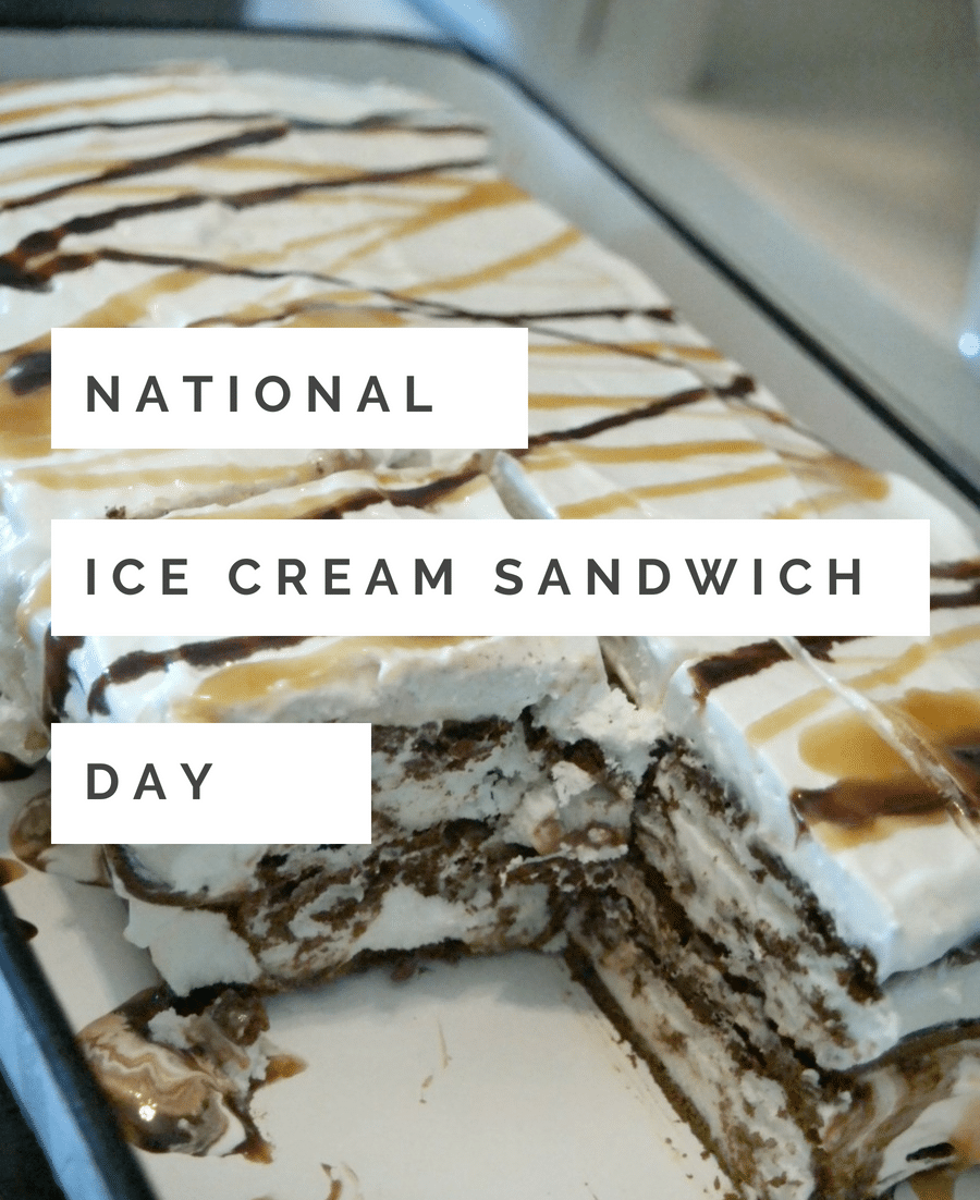 National Ice Cream Sandwich Day is August 2nd