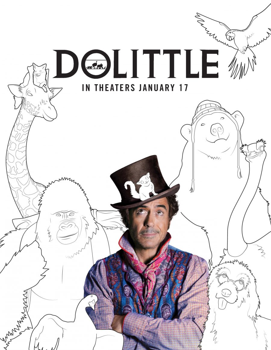 Robert Downey Jr., Doctor Dolittle color pages