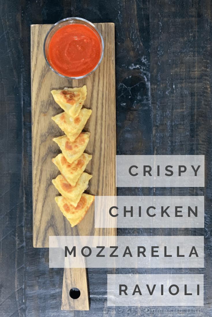 Crispy Grilled Chicken & Mozzarella Ravioli