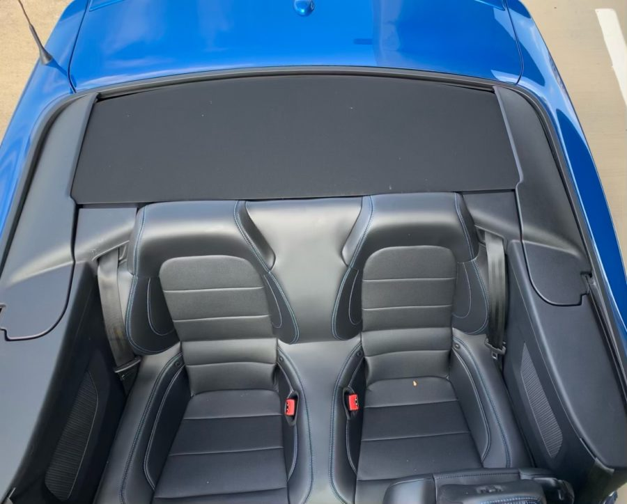 Back seat of the 2020 mustang convertible