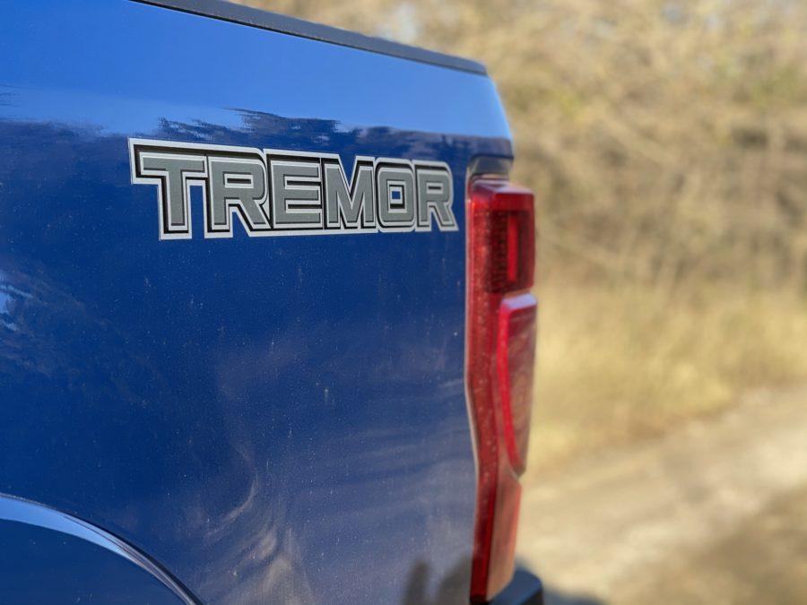 Ford F250 Super Duty Tremor Blue Tailgate