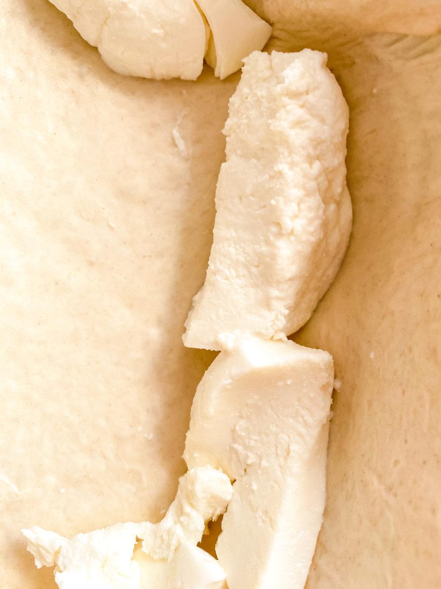 Stuffed crust with mozzarella