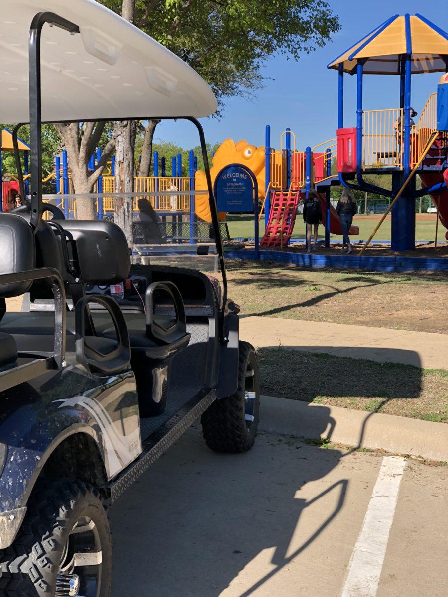 street legal golf cart at the park