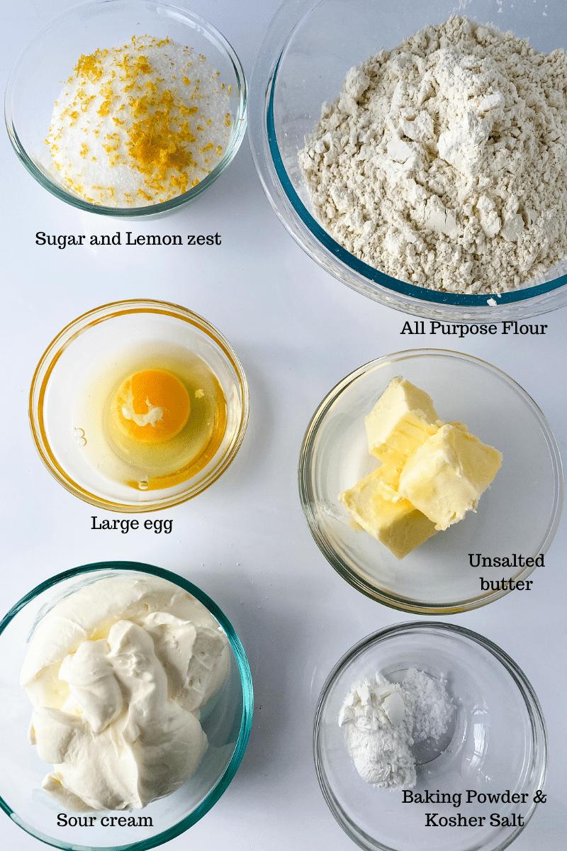 Lemon Sour Cream Cookies Ingredients