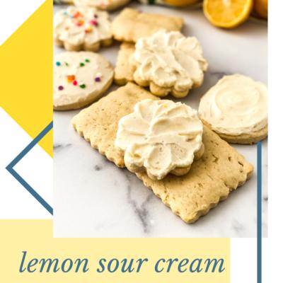 Lemon Sour Cream Cookies Recipe