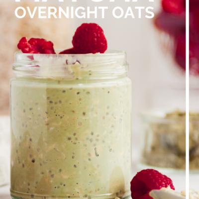 The Creamiest Matcha Overnight Oats