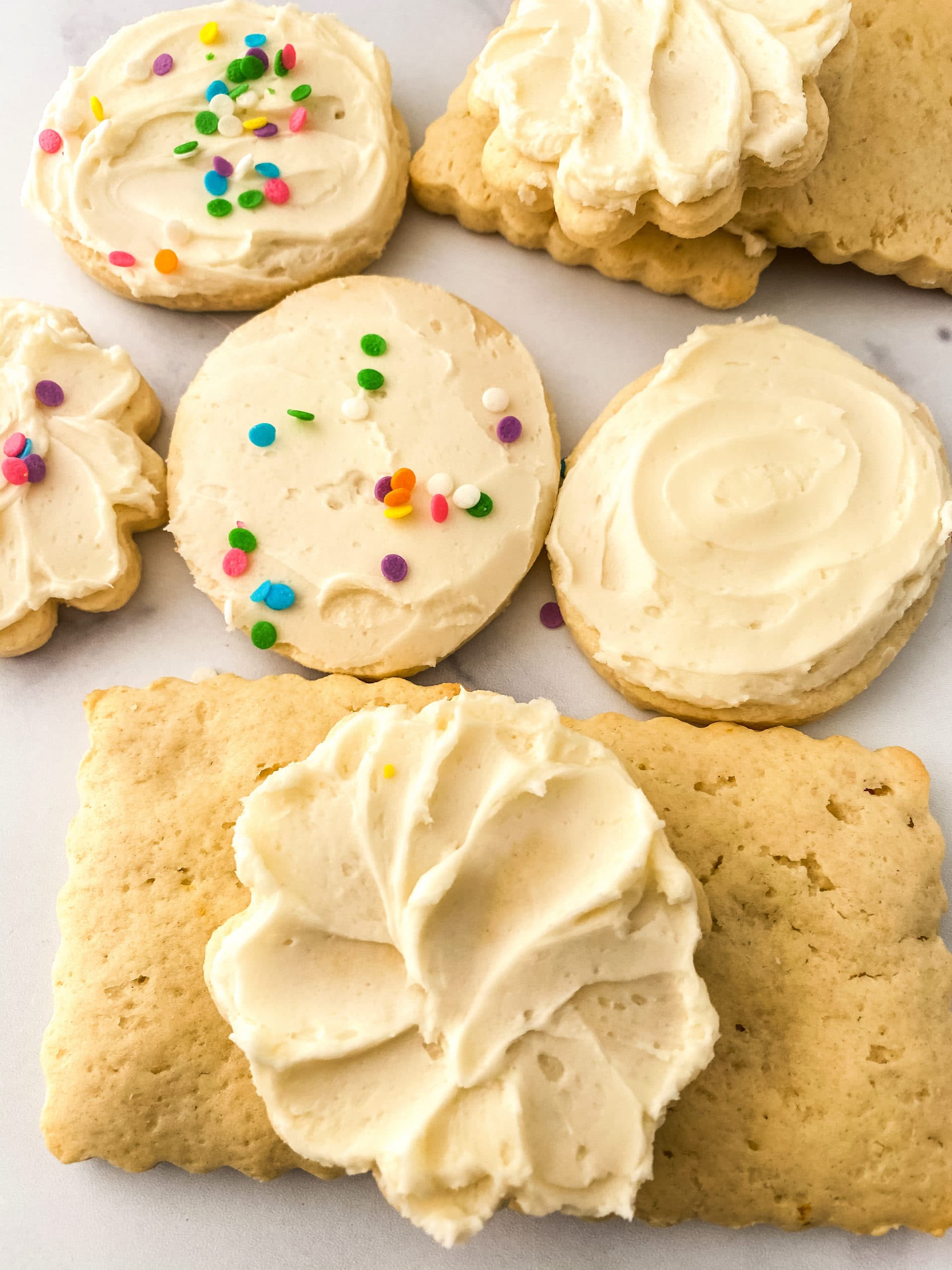 Sour Cream Lemon Cookies Frosted