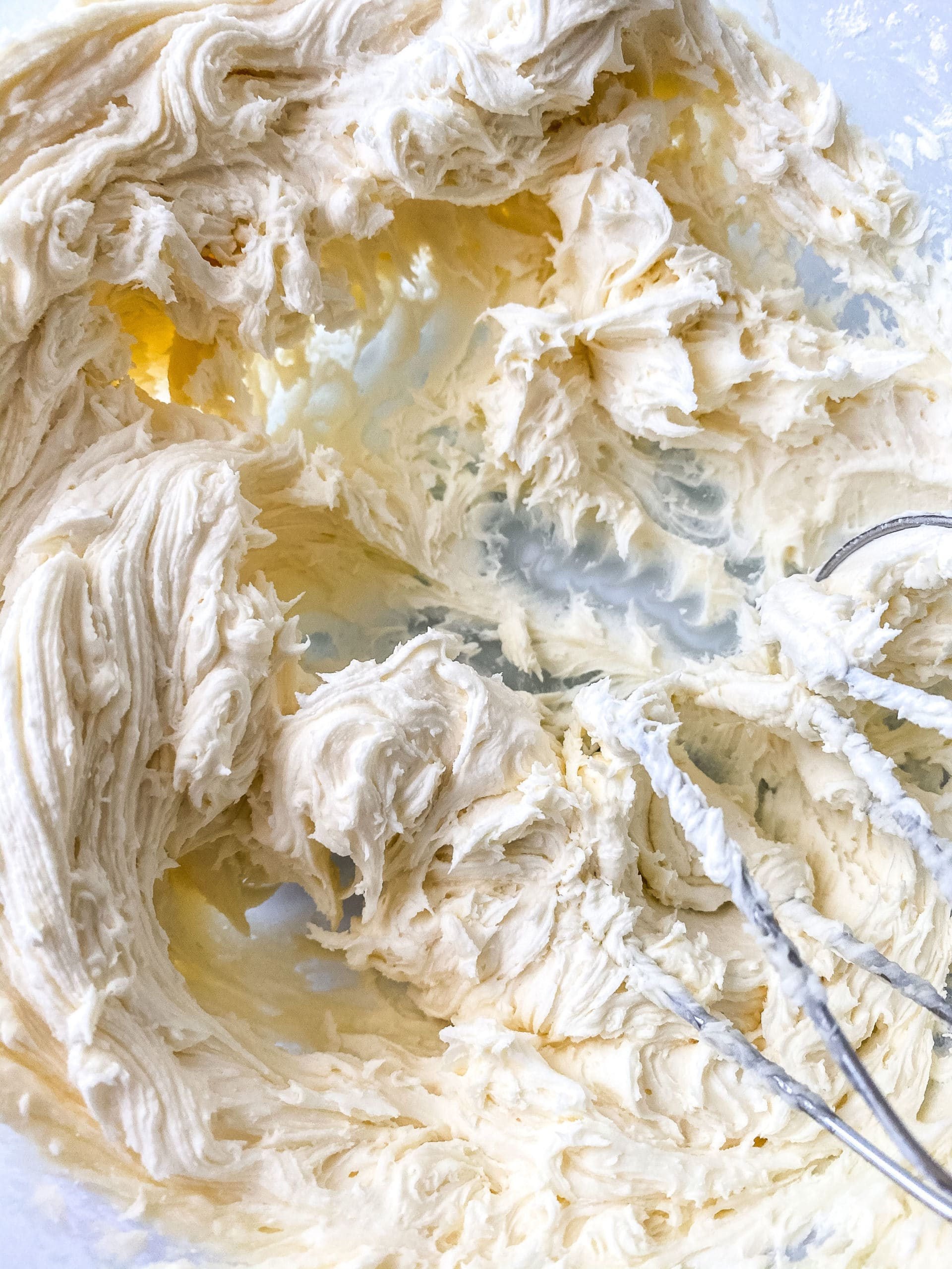 Mixing the Sour Cream Lemon Cookies frosting