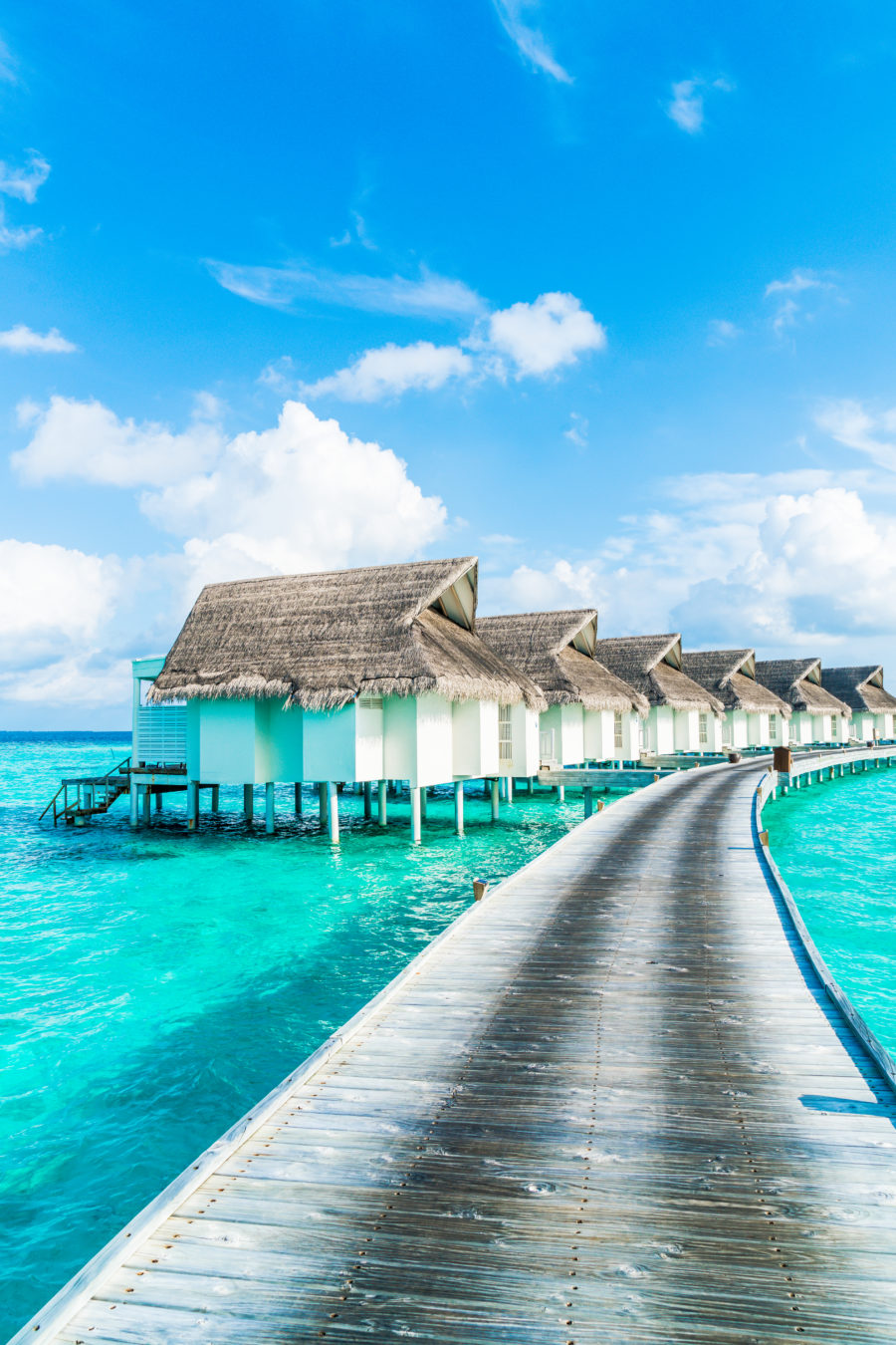 Tropical maldives resort hotel and island with beach and sea for holiday vacation concept Premium Photo