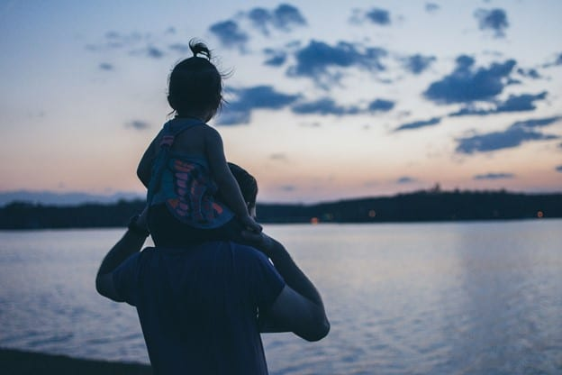 dad and daughter lake side - gifts for first time dads